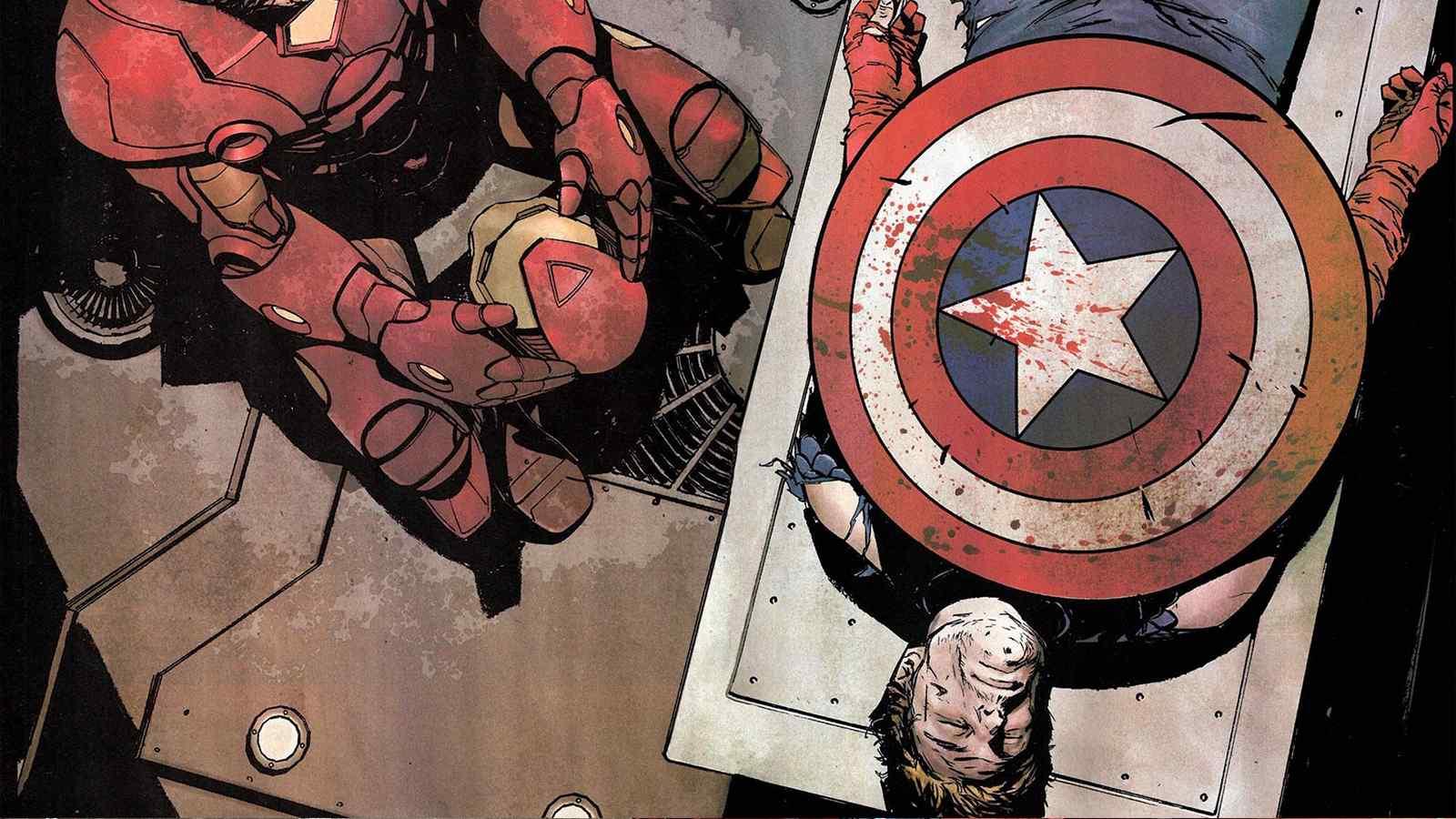美国队长精美手绘图片桌面壁纸