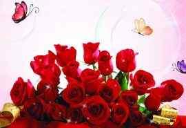 浪漫七夕情人节唯美红色玫瑰电脑壁纸图片