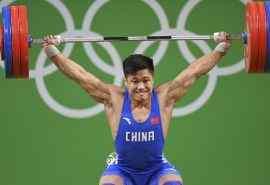 2016里约奥运中国选手吕小军比赛图片桌面壁纸