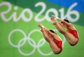 2016里约奥运冠军陈若琳刘蕙瑕比赛图片桌面壁纸