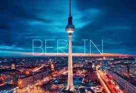德国柏林城市唯美夜景图片电脑桌面壁纸下载