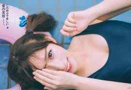 双马尾美少女露沟泳装清纯写真电脑桌面壁纸