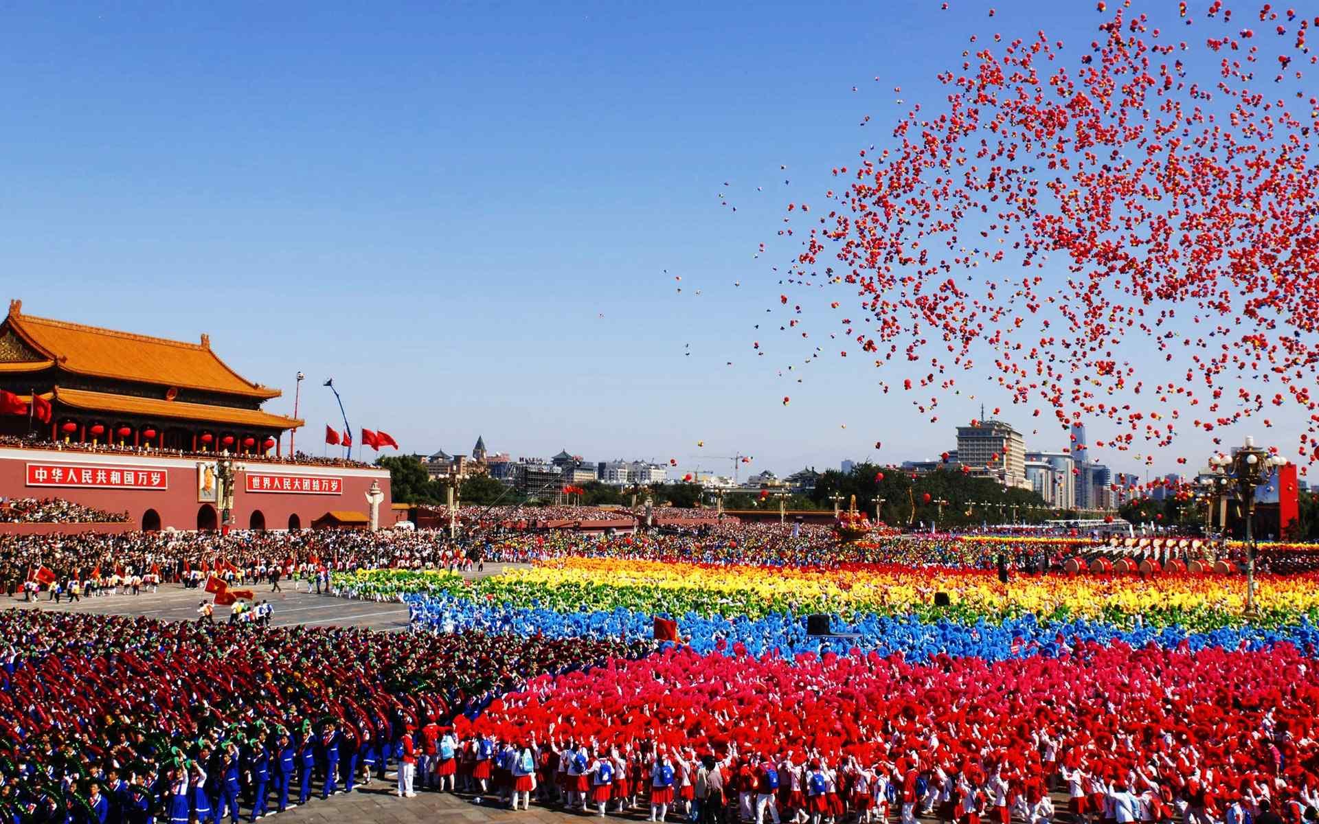 国庆节北京天安门风景图片桌面壁纸