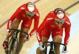 2016里约奥运冠军宫金杰钟天使自行车比赛图片
