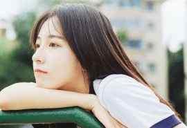 清纯美女夏日唯美写真特写电脑壁纸图片