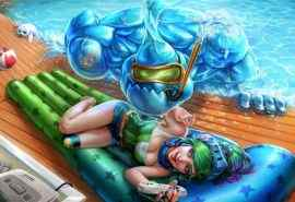 英雄联盟泳池扎克电玩瑞文精美壁纸图片