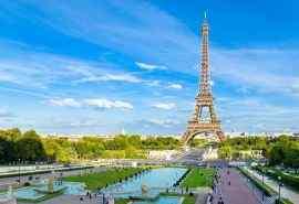 日照巴黎埃菲尔铁塔唯美风景图片桌面壁纸