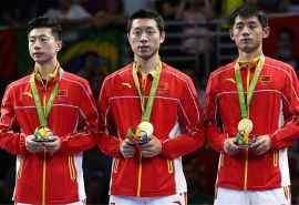 2016里约奥运男乒团体比赛图片桌面壁纸