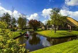 荷兰羊角村自然风景图片桌面壁纸