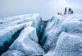 冰岛唯美极地裂缝