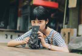 短发萝莉美女日系胶片摄影写真桌面壁纸