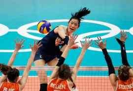 2016里约奥运中国女排荷兰比赛图片桌面壁纸