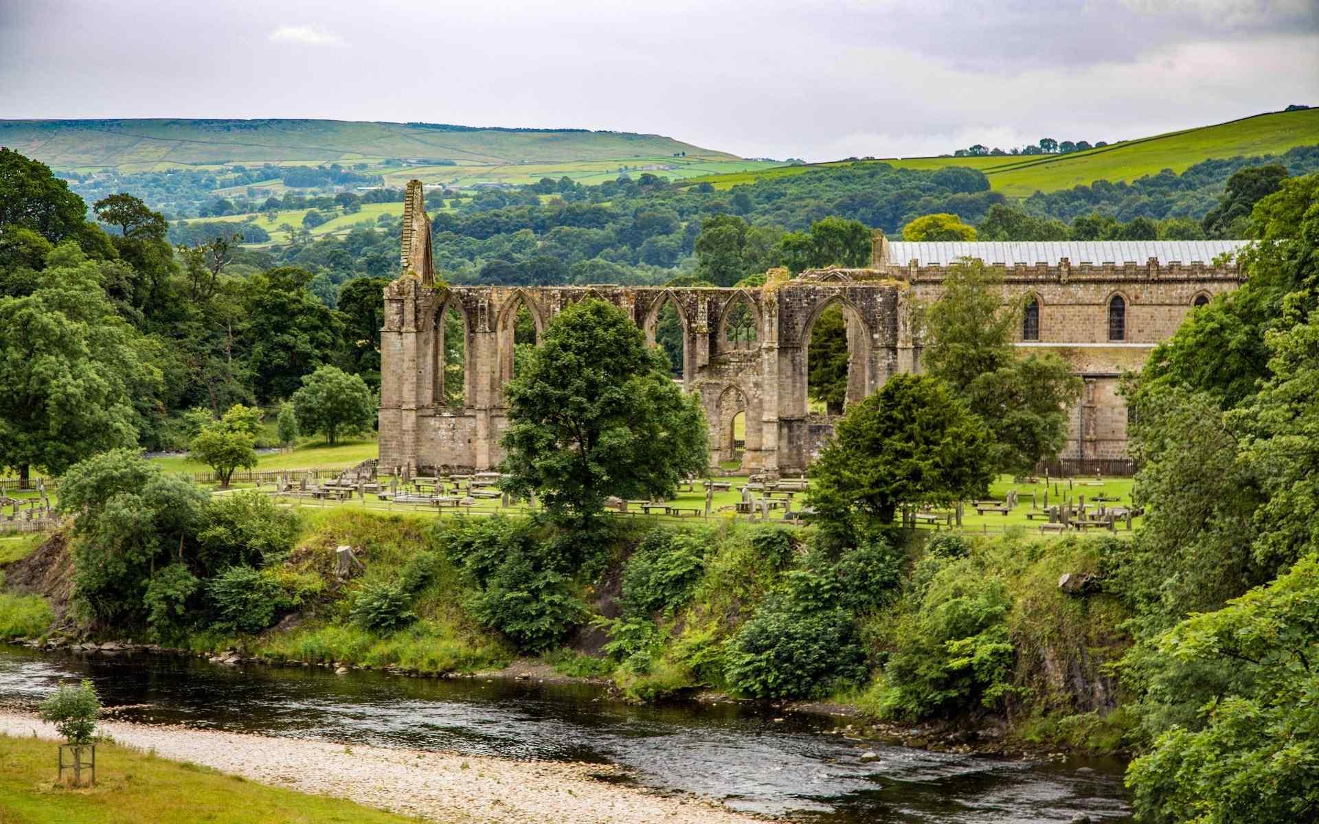 英格兰博尔特修道院自然风景图片桌面壁纸