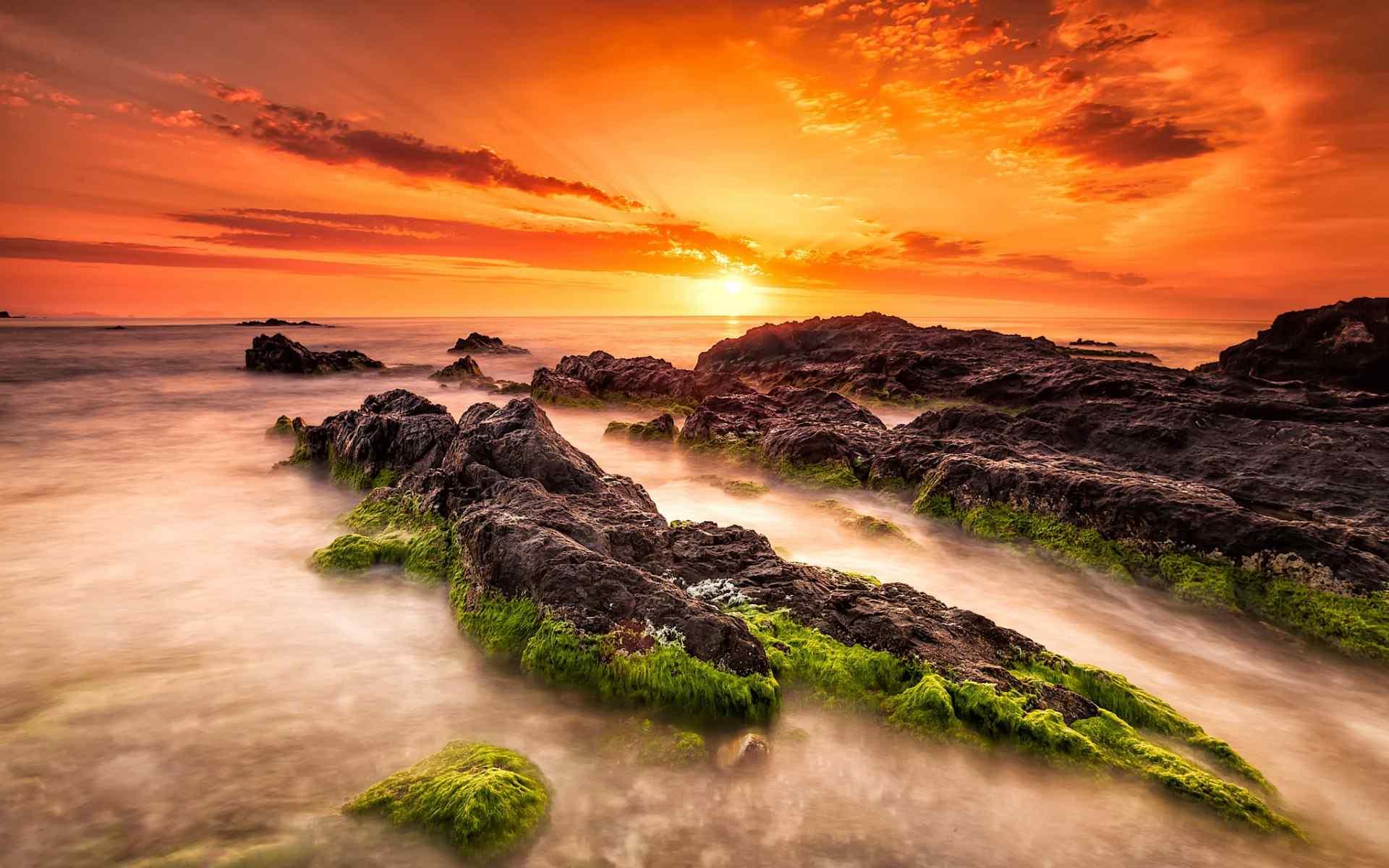 神奇又美丽的岩石风景图片桌面壁纸