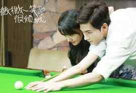 《微微一笑很倾城》杨洋郑爽甜美台球剧照图片桌面壁纸