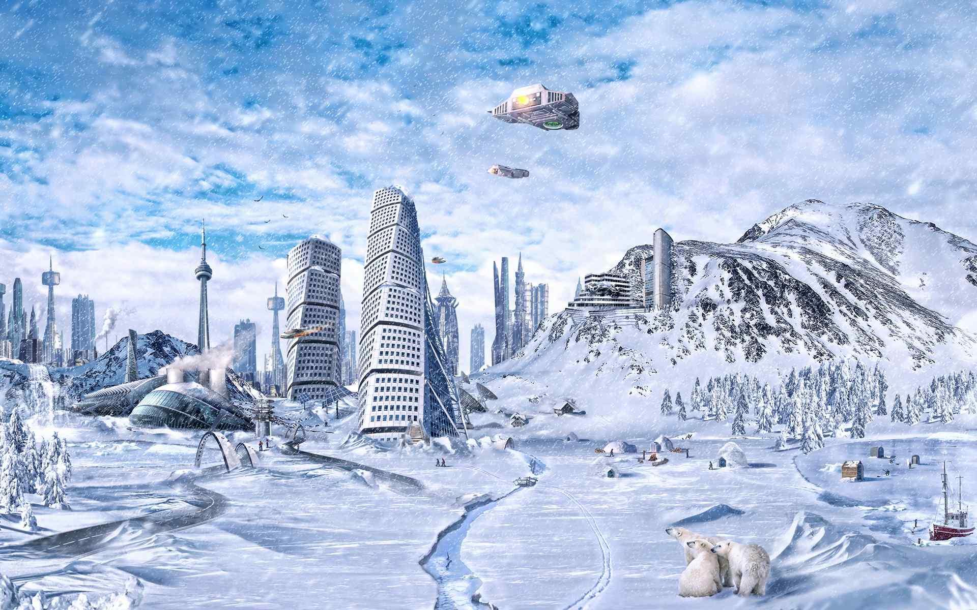 未来世界科幻之城高清图片壁纸