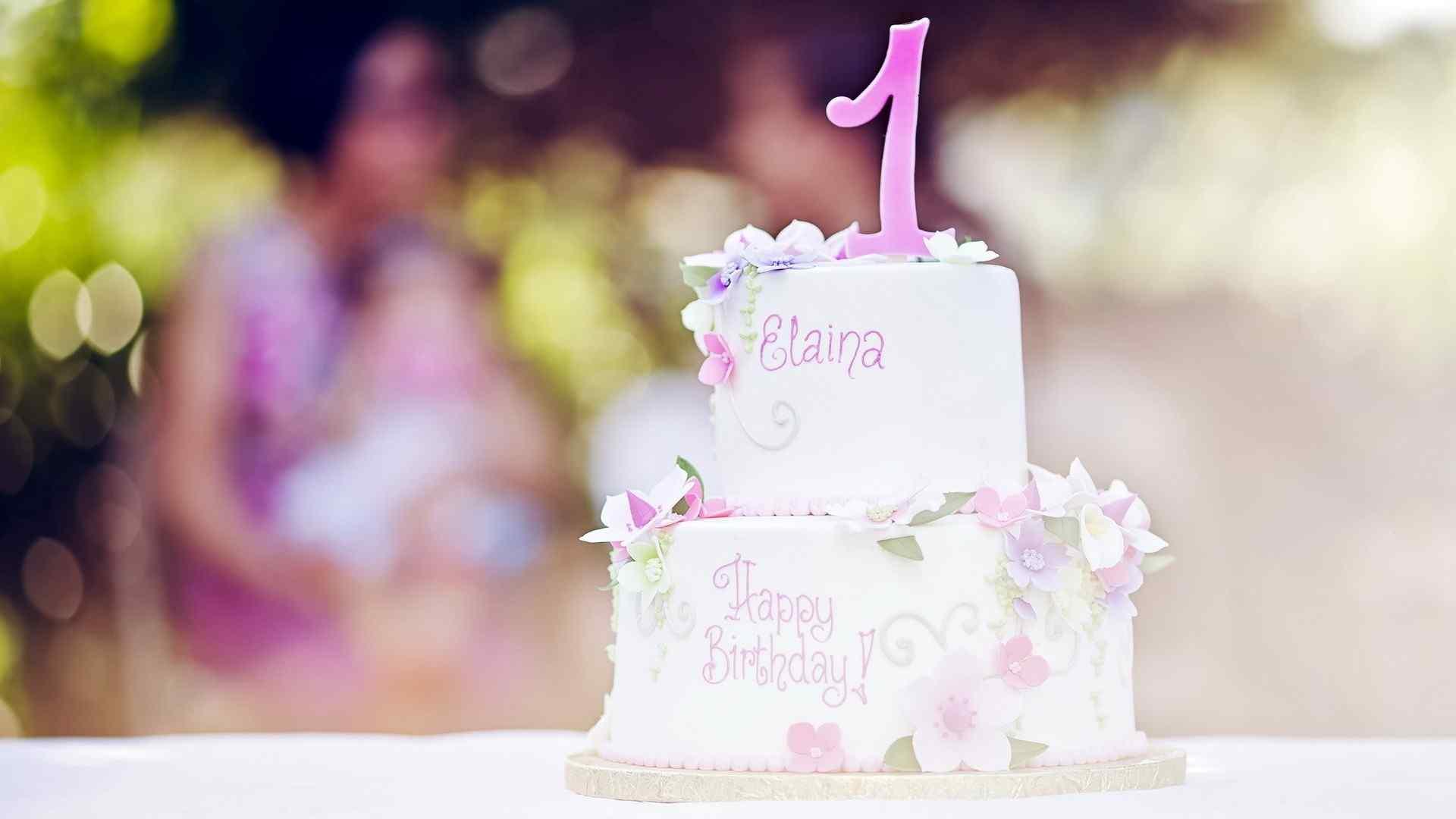 精致小巧可爱生日蛋糕桌面壁纸