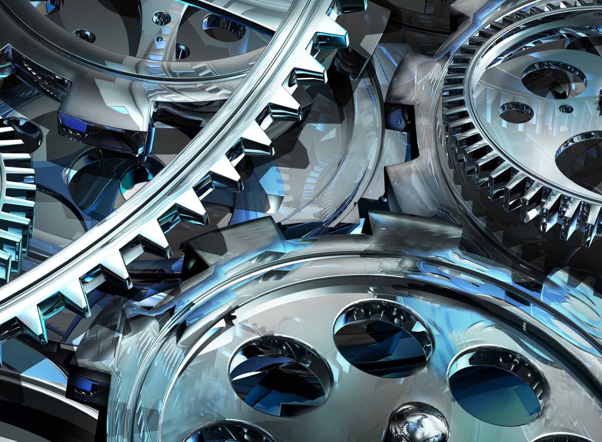 3D齿轮设计机械桌面壁纸