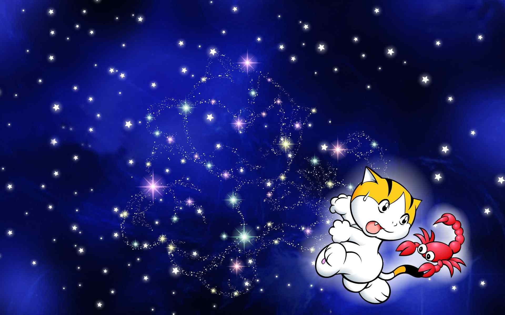 12星座之天蝎座可爱卡通桌面壁纸
