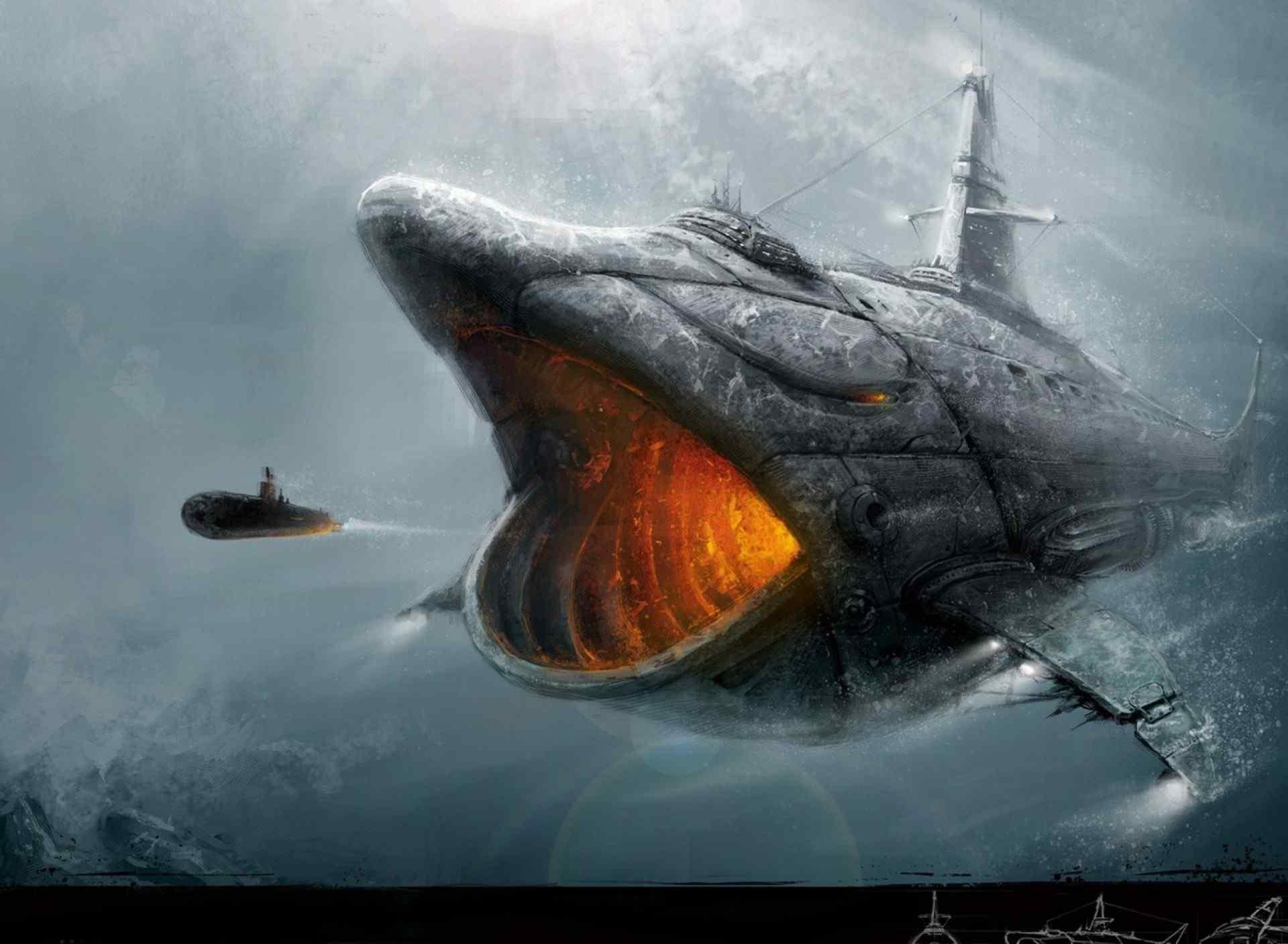 大型机械巨鲨高清桌面壁纸