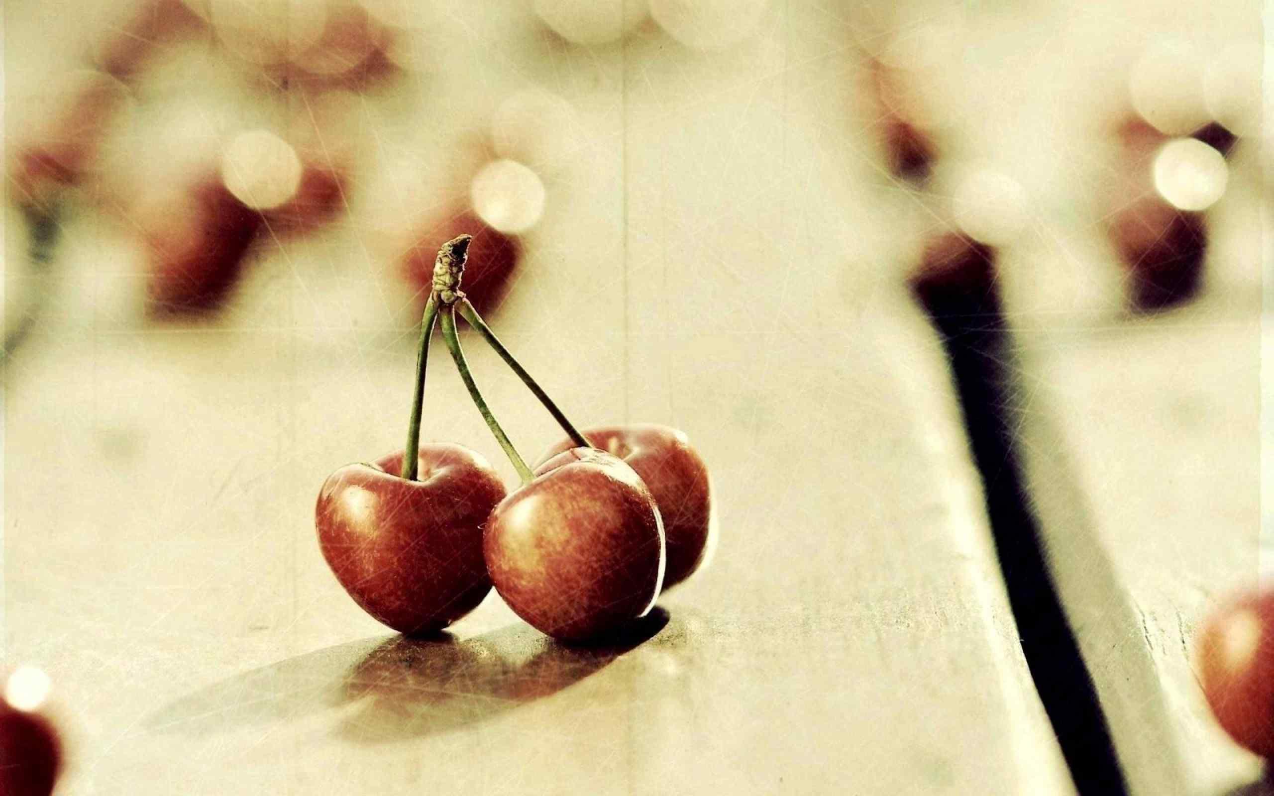 樱桃艺术设计拍摄桌面壁纸
