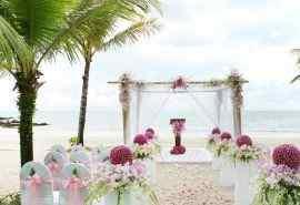 海边浪漫婚礼图片
