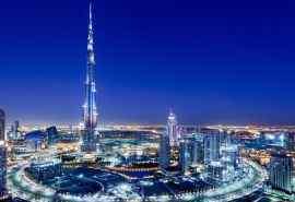 阿联酋迪拜市晚上