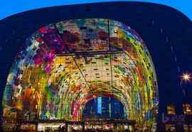 炫酷荷兰鹿特丹大型拱廊市场桌面壁纸