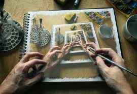 创意插画3D艺术高