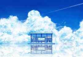 蓝天白云站台唯美