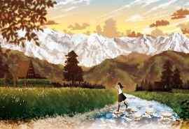 秋天与山与落叶唯