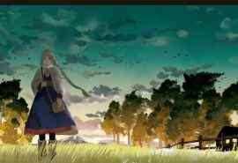sime草原的风插画