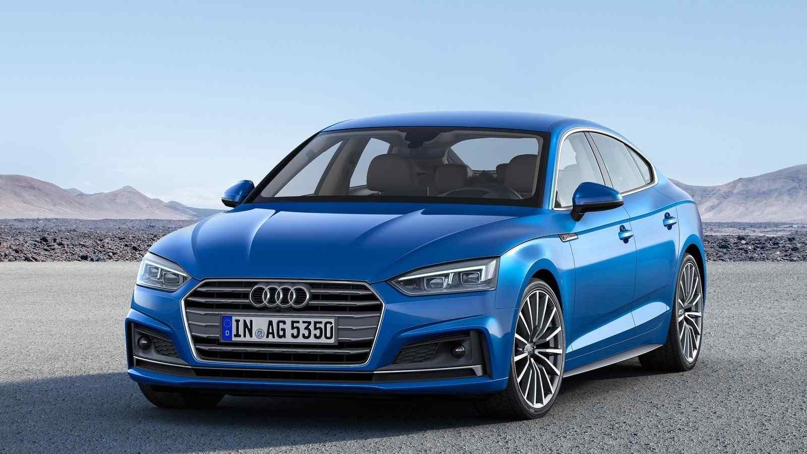 奥迪A5蓝色时尚汽车图片桌面壁纸高清图片