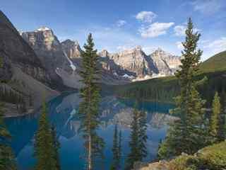 雪山冰湖奇迹自然
