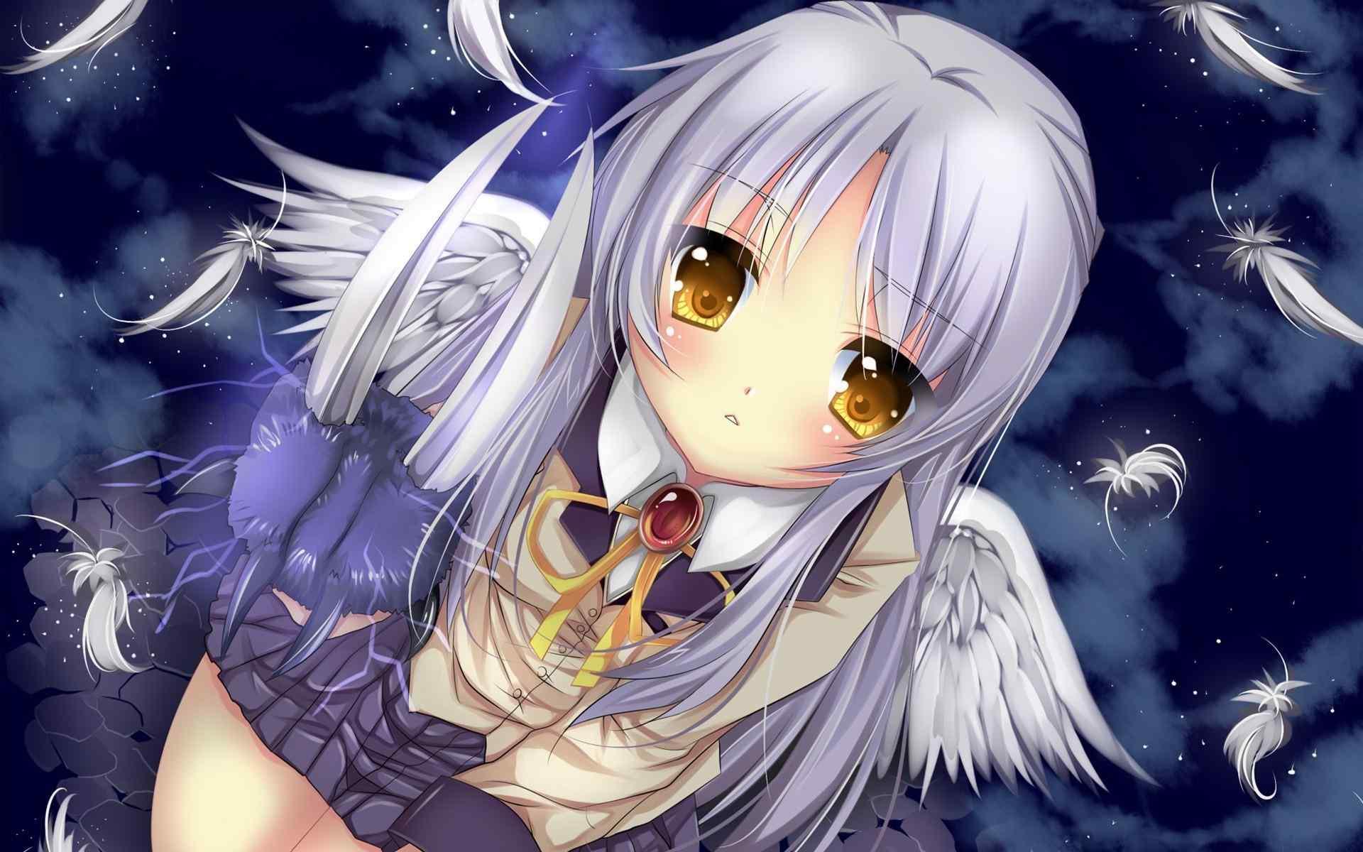 《angel beats》动漫之美女可爱桌面壁纸