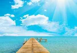 蓝天白云清新风景