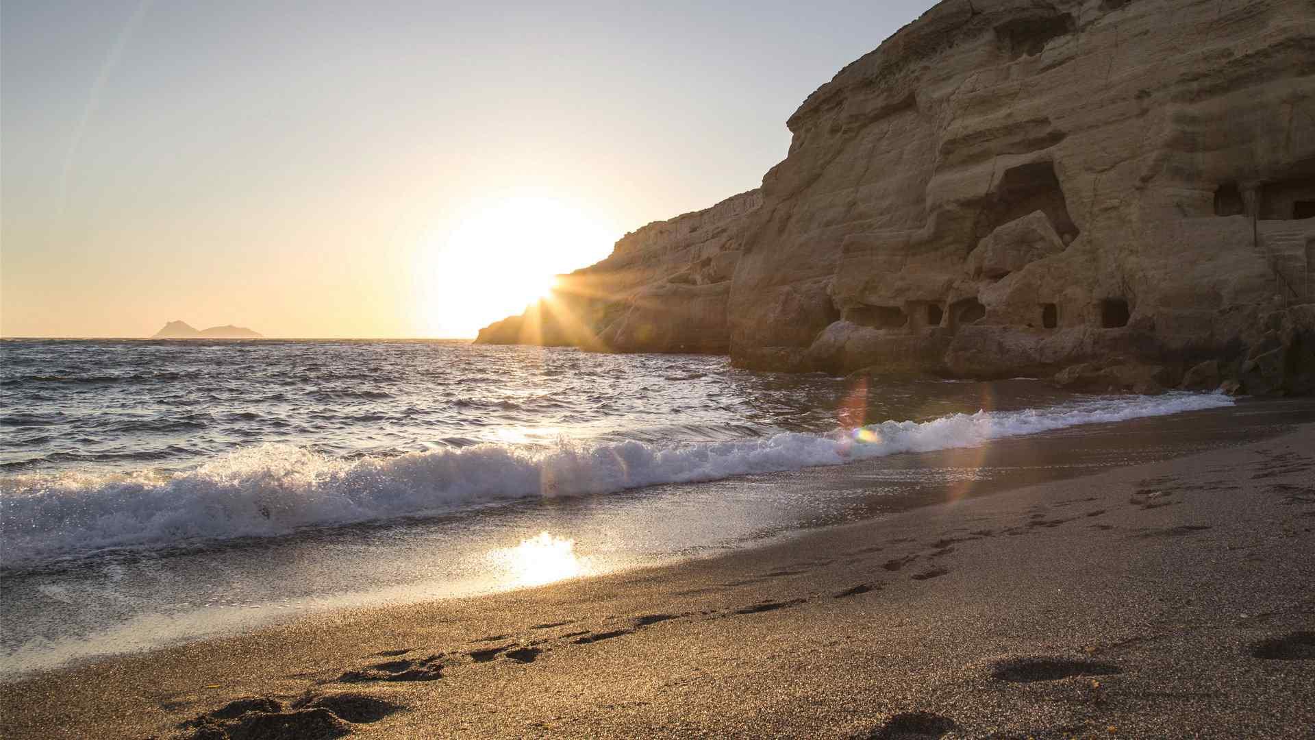 精选海浪沙滩图片风景电脑桌面壁纸