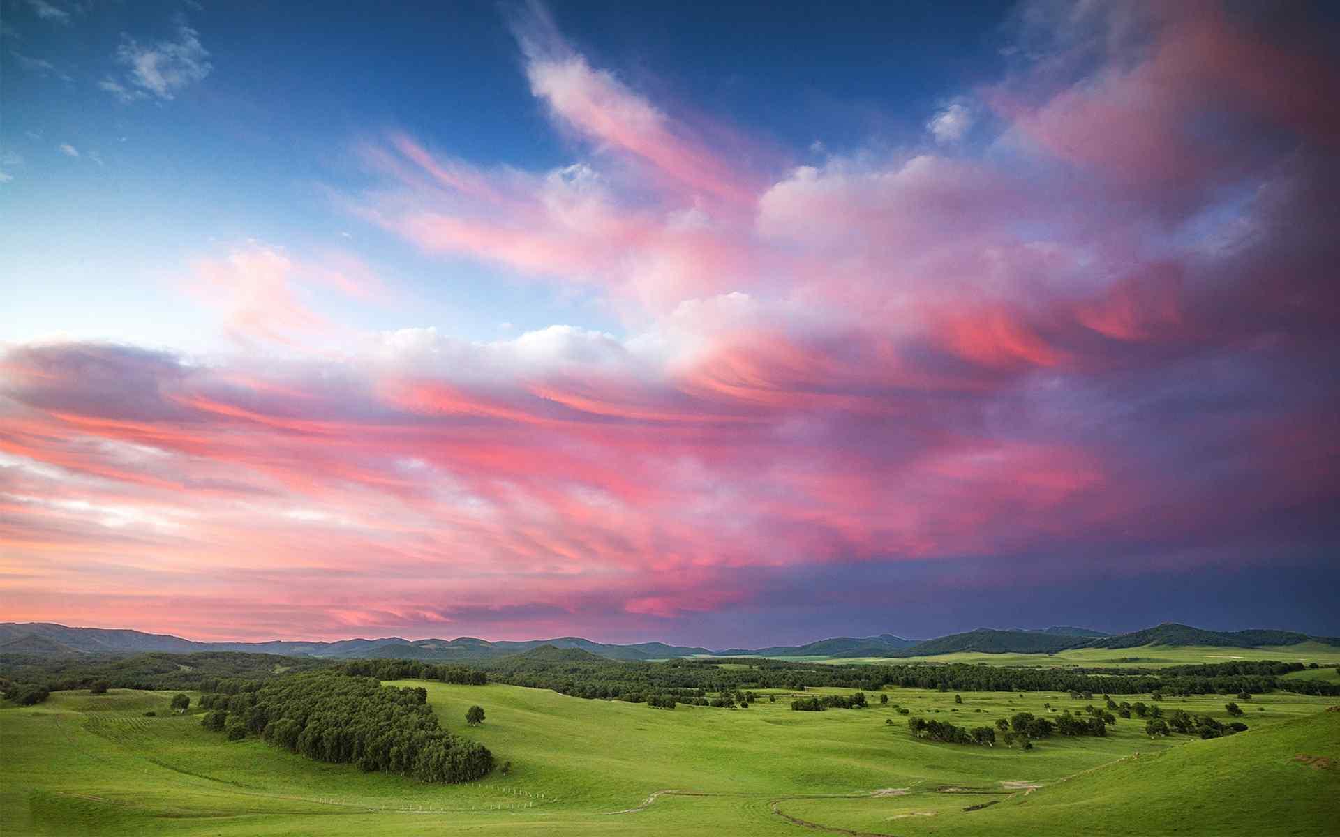 苍茫辽阔的大草原风景图片桌面壁纸