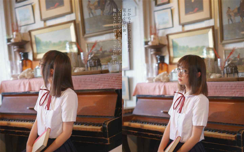 可爱学生制服日系少女高清电脑壁纸