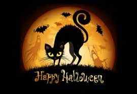 万圣节女巫、黑猫与鬼个性桌面壁纸图集(8张)