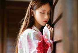 日系和服少女清新养眼写真图片桌面壁纸