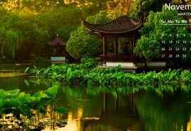 美丽西湖公园风景