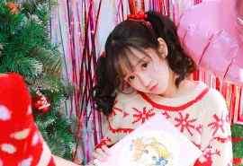 可爱萝莉圣诞节主题写真桌面壁纸图集