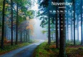 2016年11月日历壁