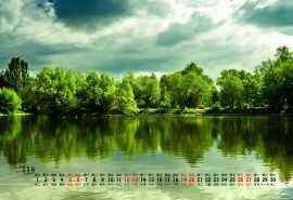 2016年11月桂林山水风景日历壁纸