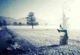 唯美雪地创意摄影
