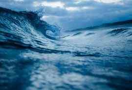 清新唯美的海浪浪