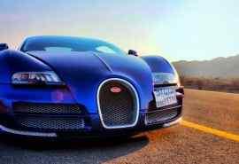 酷炫跑车蓝色布加