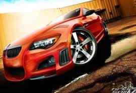超酷红色宝马汽车