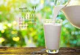 创意牛奶美食2016年11月日历壁纸